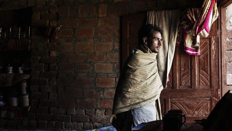 Ehemaliger Sklave Masih in seinem neuen Zuhause in Fatepur