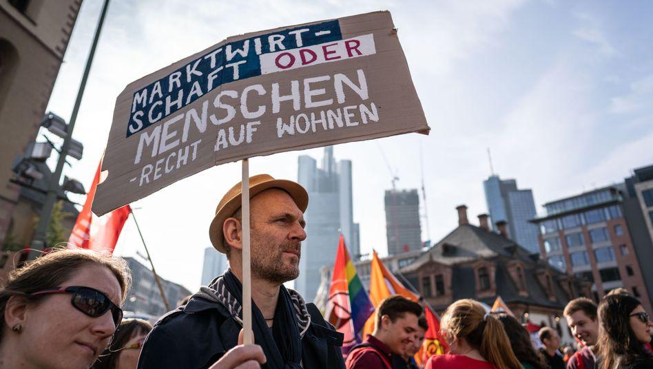 Demonstration gegen hohe Mieten (Archivbild aus Frankfurt)