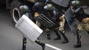 Schüsse und Detonationen bei Demonstration gegen Lukaschenko