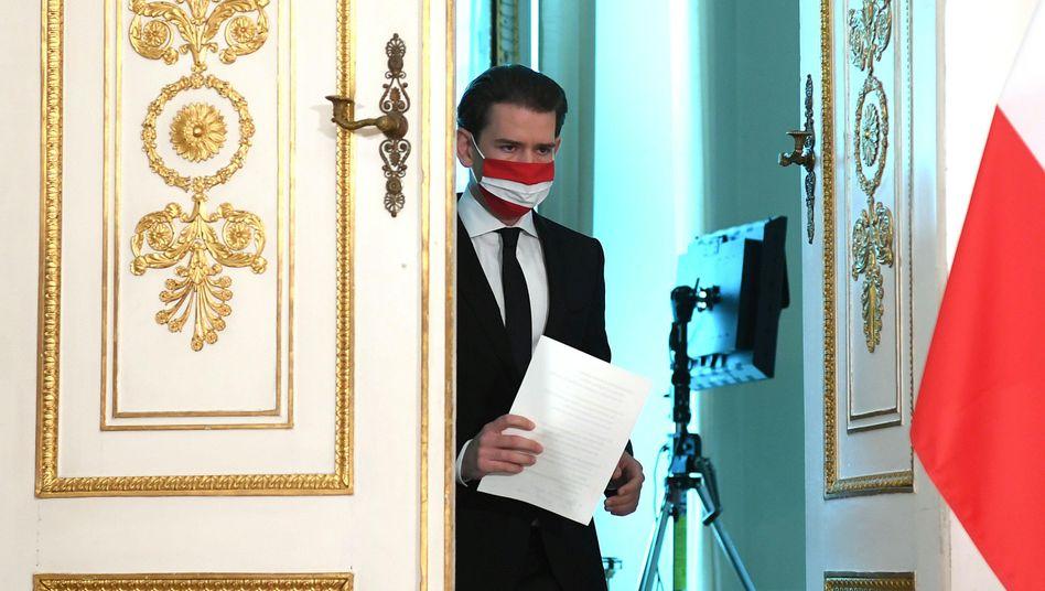 Österreichs Kanzler Sebastian Kurz am 3. November