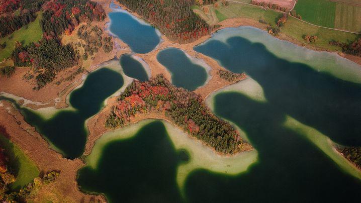 Luftbilder von Flüssen und Seen in Deutschland: Wasser marsch!