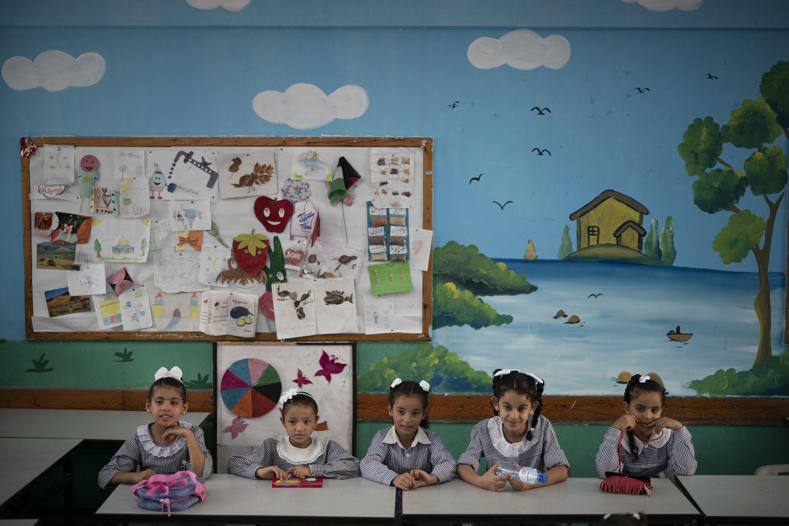 APTOPIX Palestinians Gaza Schools