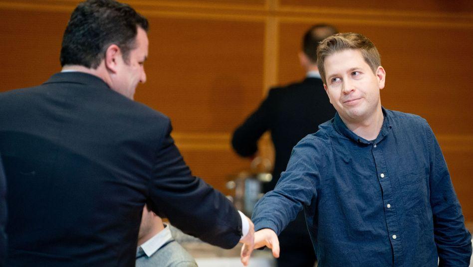 Bundesarbeitsminister Hubertus Heil (l.) und Juso-Chef Kevin Kühnert - beide wollen Parteivize werden