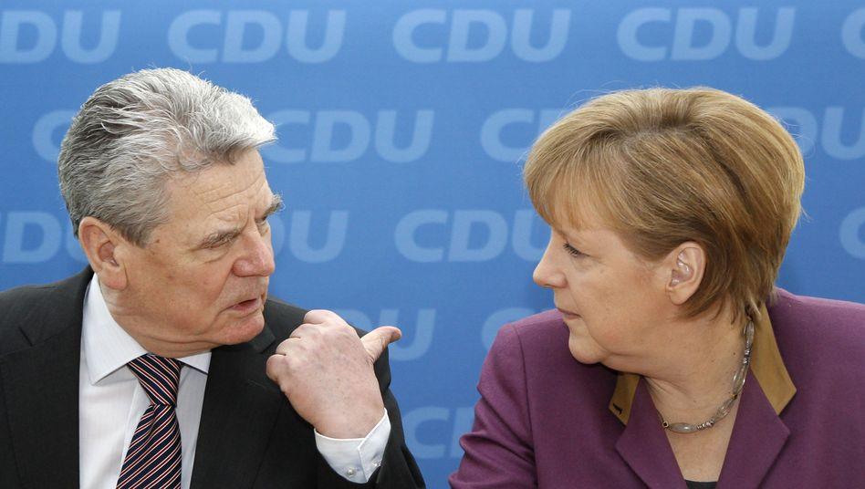 Bundespräsident Gauck, Kanzlerin Merkel (Archivbild vom März); Schwieriges Verhältnis