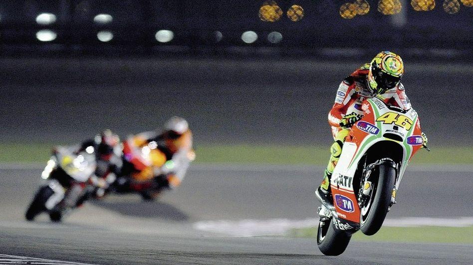Ducati-Fahrer Rossi in Doha»Ich kann dieses Motorrad nicht fahren«