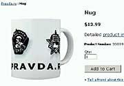 """""""Prawda""""-Tasse: Russlands bekannteste Website entwickelt manchmal einen ganz eigenen Humor"""