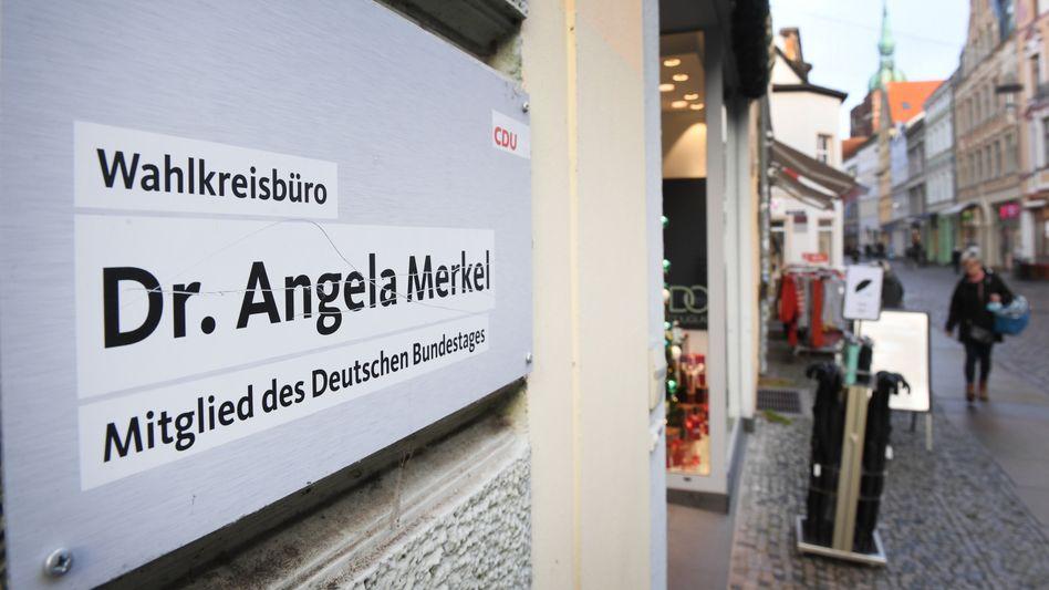 Wahlkreisbüro von Angela Merkel in der Stralsunder Innenstadt