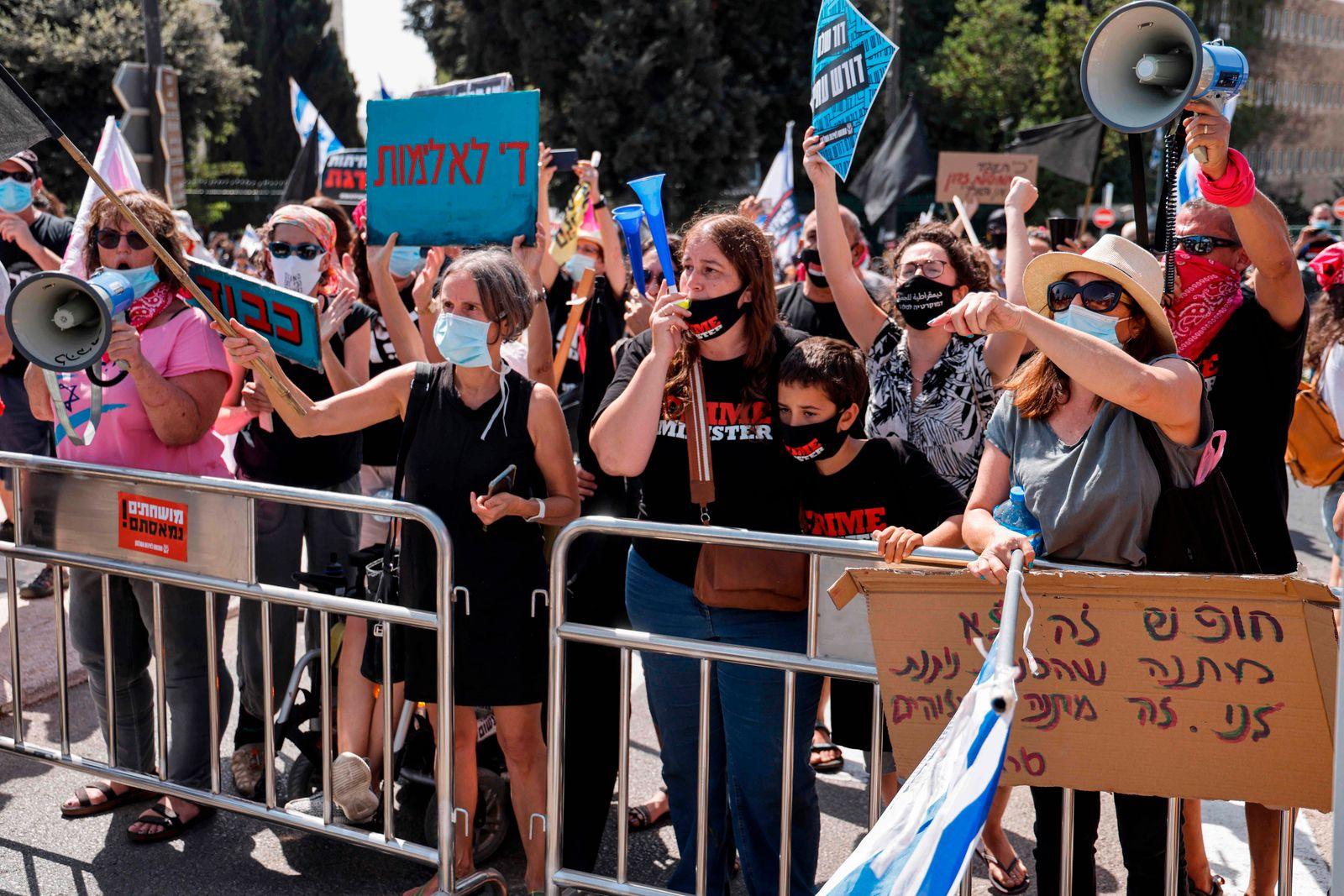 ISRAEL-POLITICS-DEMO-HEALTH-VIRUS