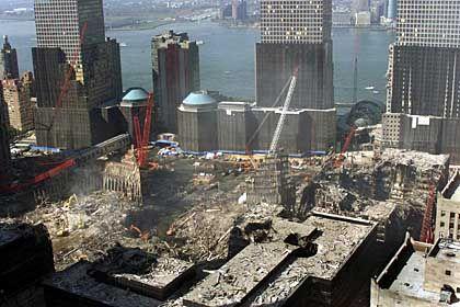 Ground Zero: Ruinenlandschaft im Herzen Manhattans