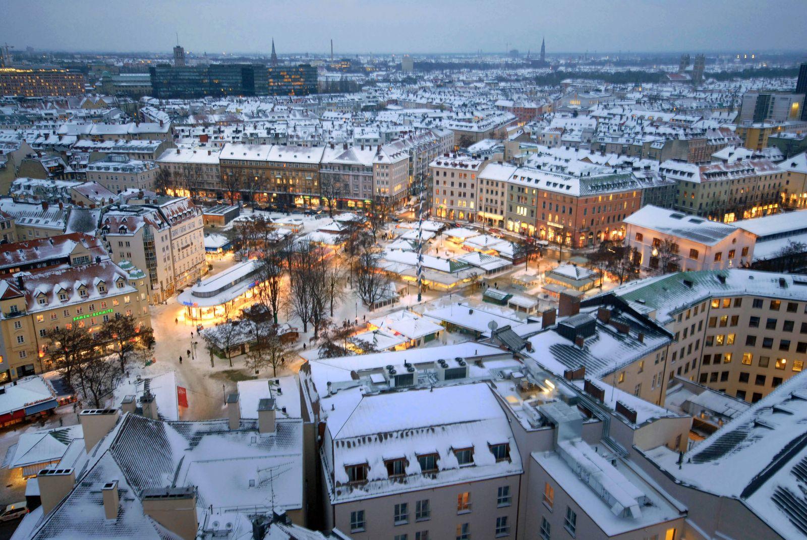 München, Stadtansicht, Innenstadt, Altstadt, Zentrum, City, Stadtzentrum, Skyline, Viktualienmarkt, Europäisches Patent