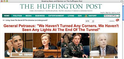 """Huffington Post"": Fleischige Schenkel und General Petraeus"