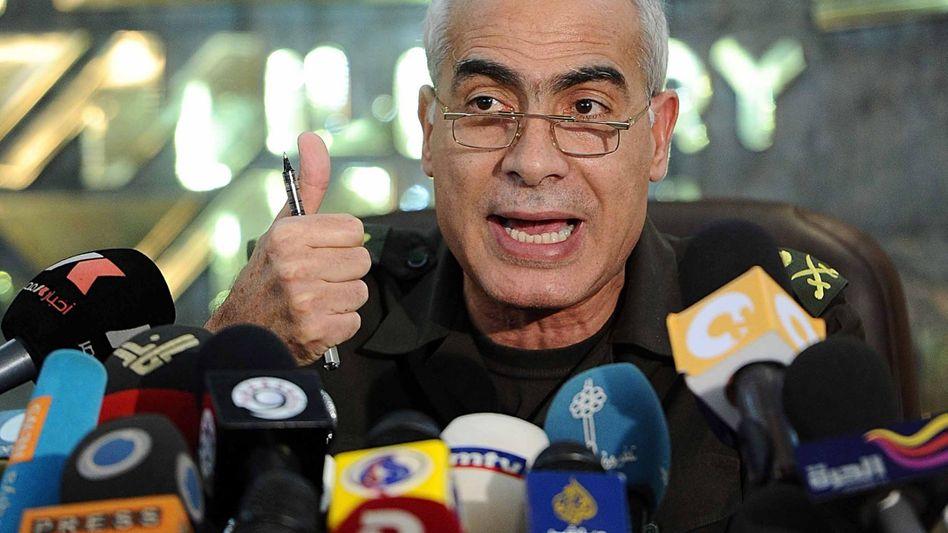 General Mamduh Schahin vom ägyptischen Militärrat: Verfassungserklärung veröffentlicht