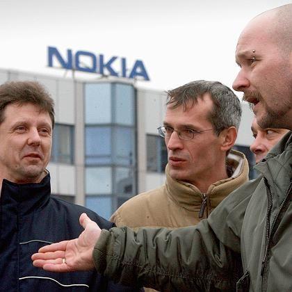 """Wütende Nokia-Arbeiter: """"K.o.-Schlag für die Region"""""""