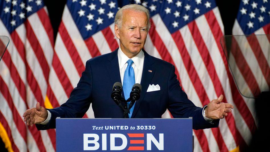 Joe Biden (am 13. August): Die heiße Phase des US-Wahlkampfs läuft