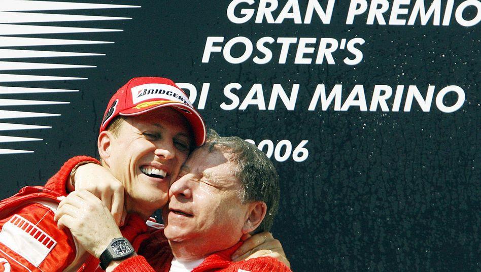 """Schumacher und Todt beim Titel-Gewinn 2006, San Marino: """"Er ist ein enger Freund"""""""