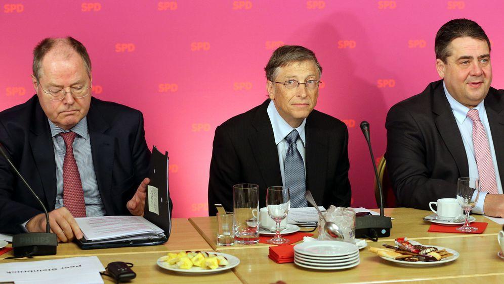 Besuch bei der SPD: Bill Gates beglückt die Genossen
