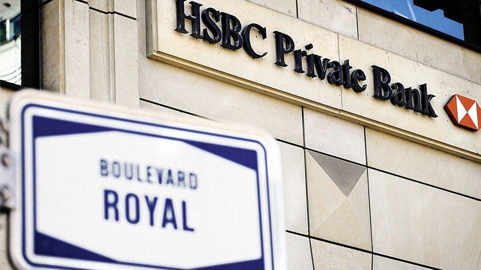 Sitz der HSBC-Bank in Luxemburg