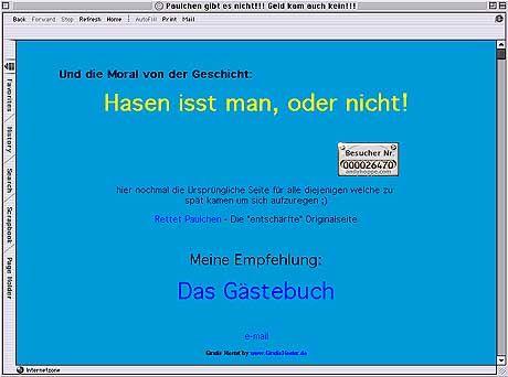 Die Kapitulation des Scherzkekses vor dem kochenden Volkszorn: Der Rest eines unüberlegten Web-Gags