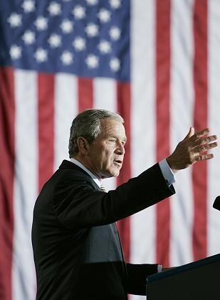 US-Präsident Bush: In Klimafragen mit fester Meinung