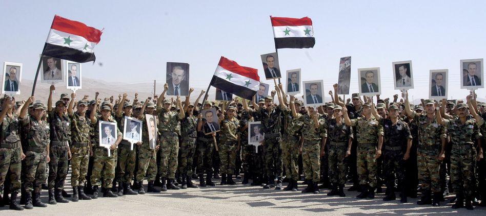 Assads Soldaten im August 2012: Der Zerfall ist eine Frage der Zeit
