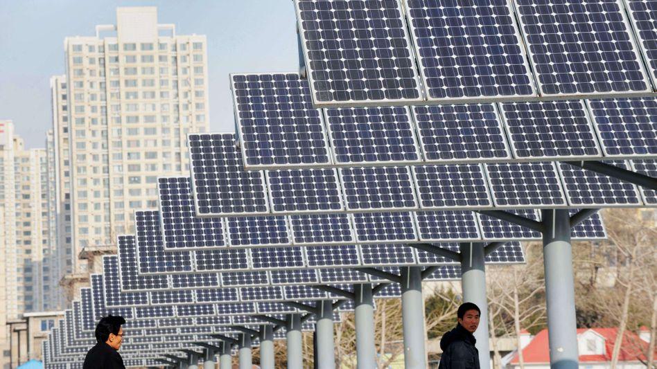 Solarmodule im chinesischen Shenyang