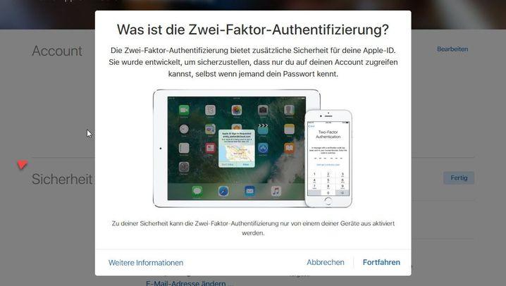 Zwei-Faktor-Authentifizierung: So geht es bei Apple