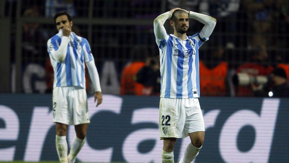 Enttäuschte Málaga-Profis: Dramatisches Aus in der Champions League