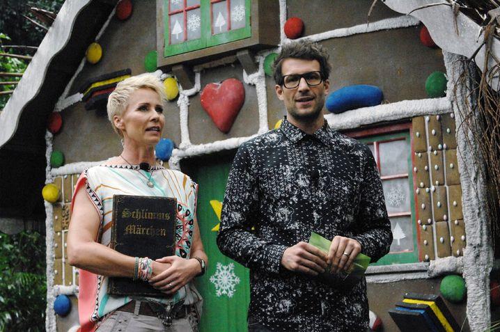 Sprachlos: Moderatoren Sonja Zietlow und Daniel Hartwich (an Tag acht)