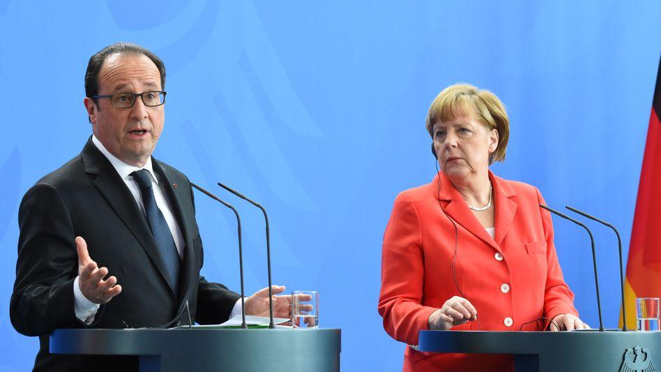 Hollande und Merkel: Ringen um eine gemeinsame Linie