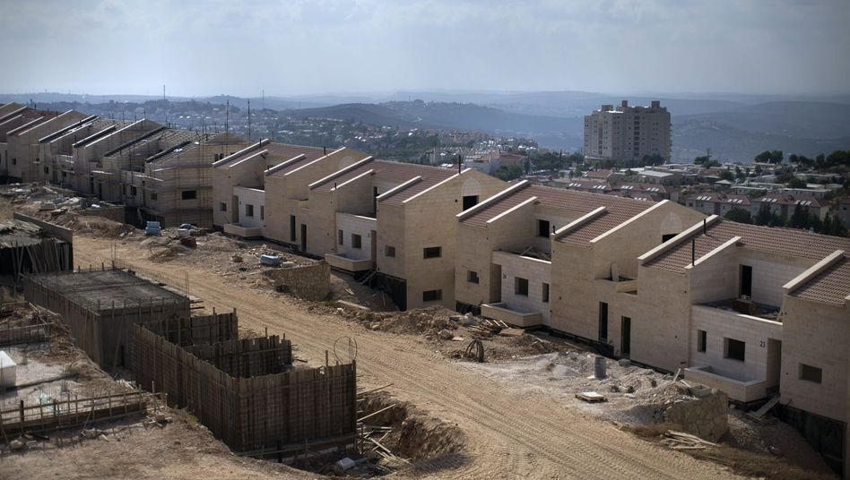 A new neighborhood being built in the West Bank settlement of Ariel.