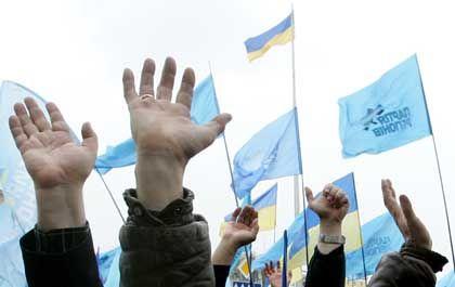 """Demonstration für Janukowitsch: """"Die orangenen Wirren nicht fortsetzen"""""""