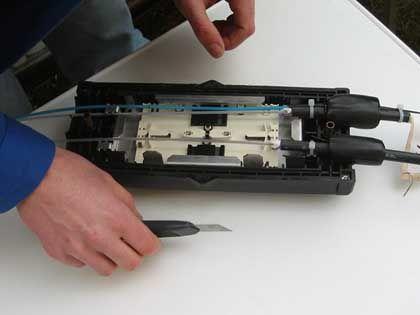 Aufrüstung: Verkürzung einer Glasfaserstrecke
