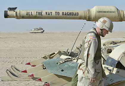 """""""Auf nach Bagdad"""": An ihrem Willen, Saddam Hussein zu stürzen, lassen die USA keinen Zweifel"""
