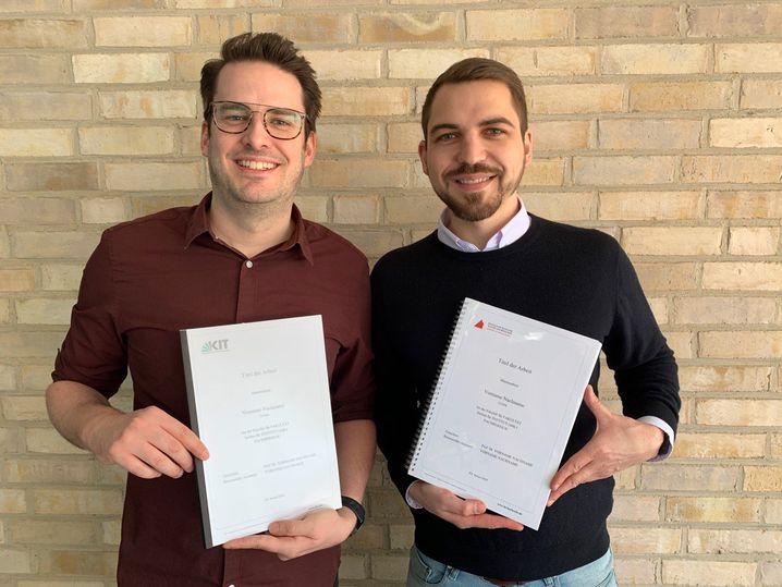 Die Copyshop-Gründer Daniel Sobing und Simon Zeidler
