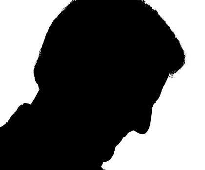 Schattenriss: John Kerry kurz vor einem Wahlkampfauftritt