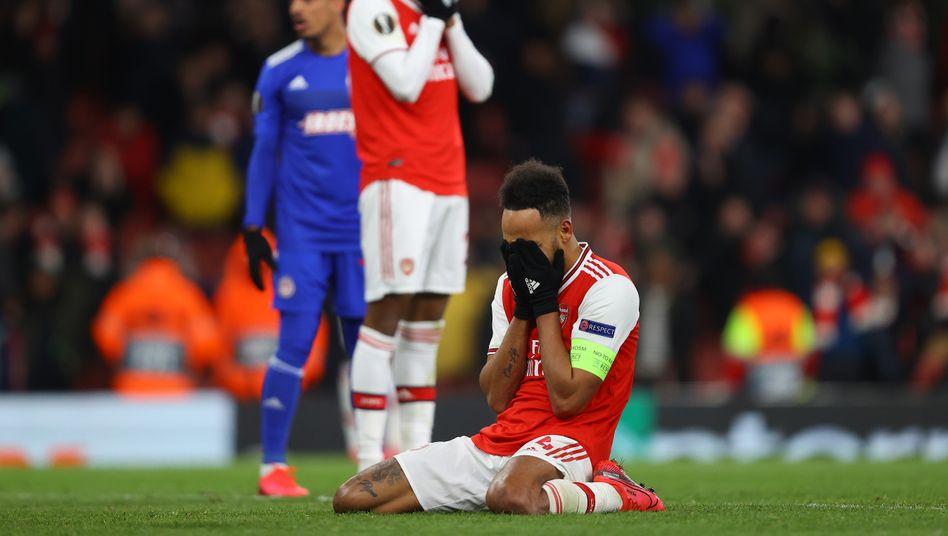 Pierre-Emerick Aubameyang vergab Arsenals Chance auf das Weiterkommen in letzter Sekunde