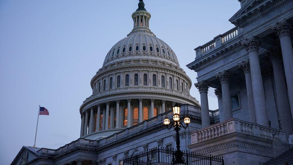 US-Kapitol: Im Senat hat das große Infrastrukturpaket eine Mehrheit erhalten