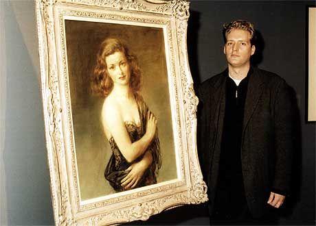"""""""The Woman in the Window"""" : Felix Werner mit dem Bild seiner Großmutter Joan Bennett"""