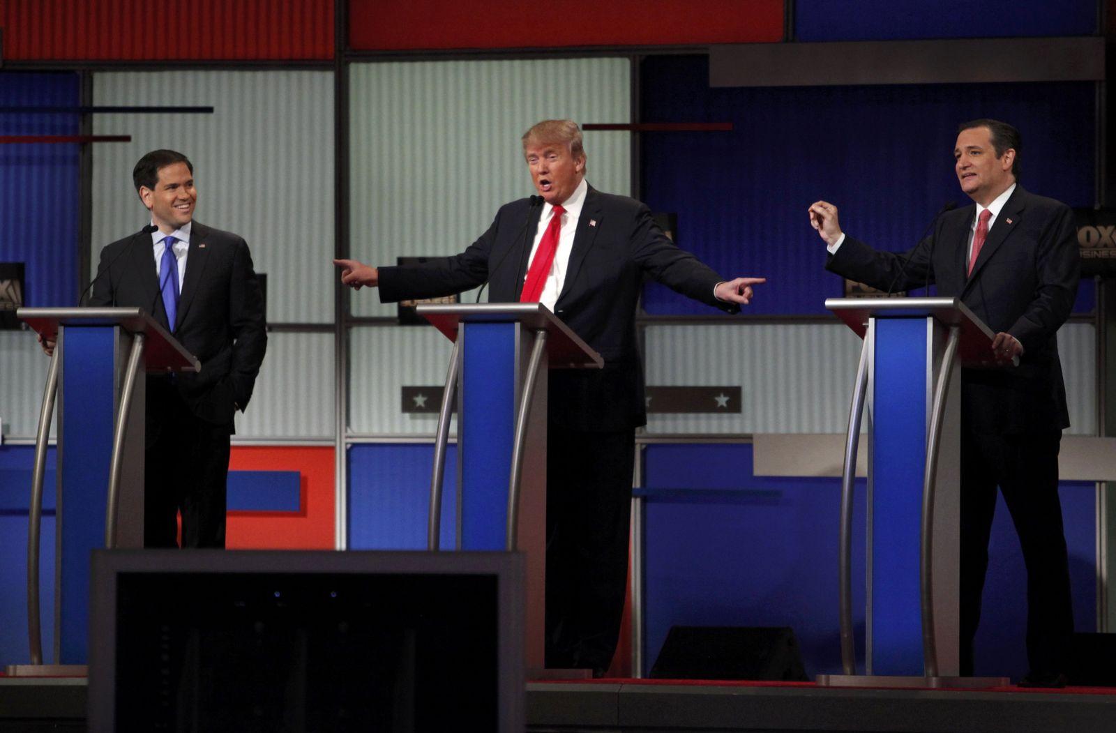 USA trump Cruz Debatte