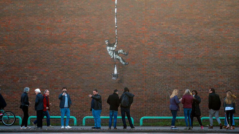 Banksys neuestes Werk in Reading