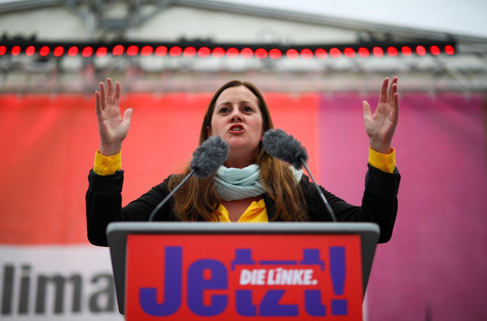 Left wing party Die Linke campaigns in Berlin