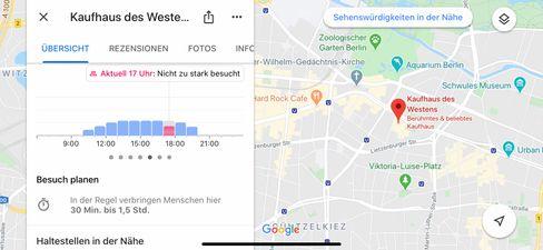Abstands-App von Google