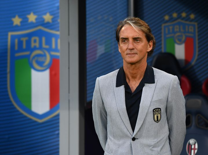 Mancini also cuts a fine figure on the sidelines