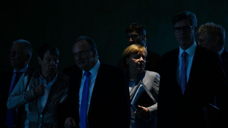 Angela Merkel beim Dieselgipfel im Bundeskanzleramt