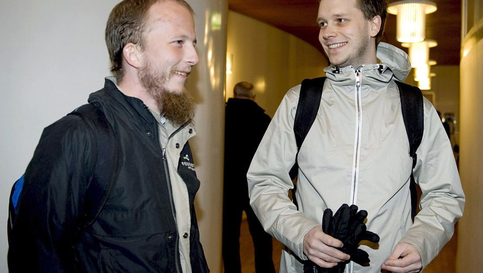 Prozess in Stockholm (Archivbild 2009, links): Pirate-Bay-Mitgründer Warg