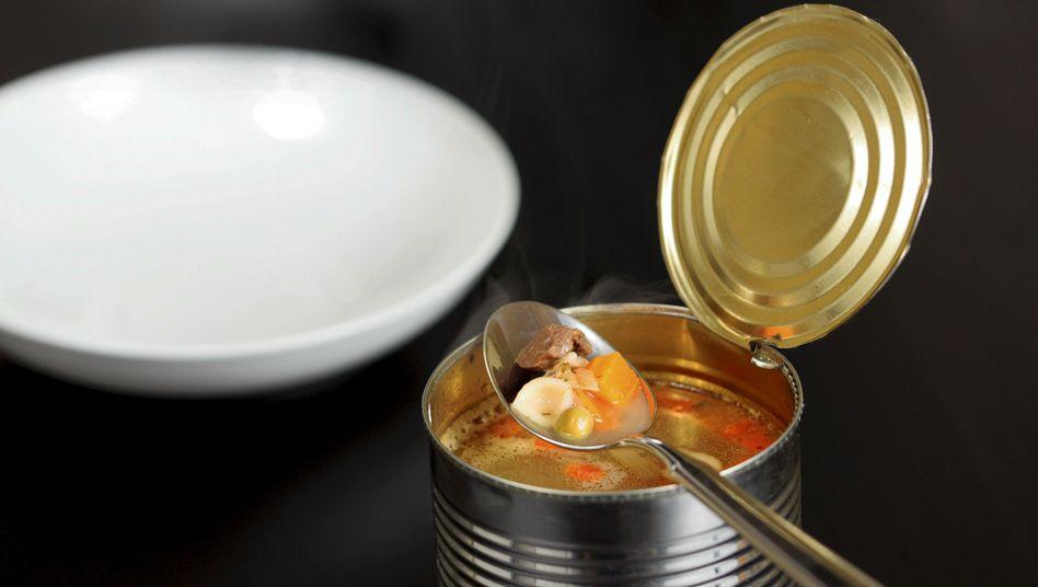 Dosensuppe: Chemikalie aus der Verpackung gelangt ins Lebensmittel