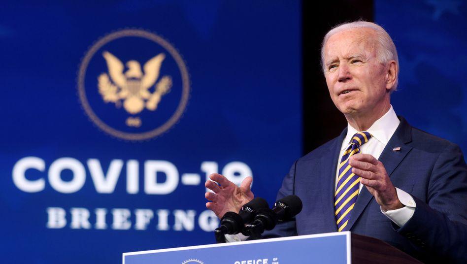 Joe Biden (Archivbild) hat den Kampf gegen die Corona-Pandemie zu seiner dringlichsten Aufgabe erklärt