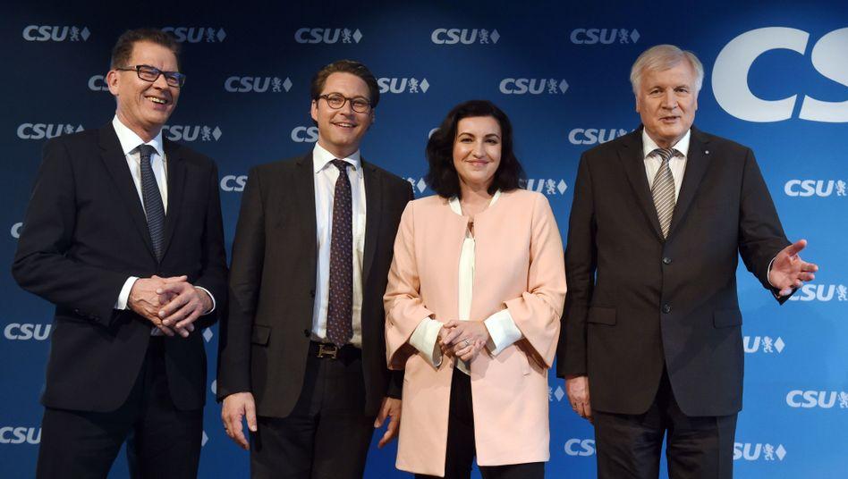 Neue Minister Müller, Scheuer, Bär, Seehofer