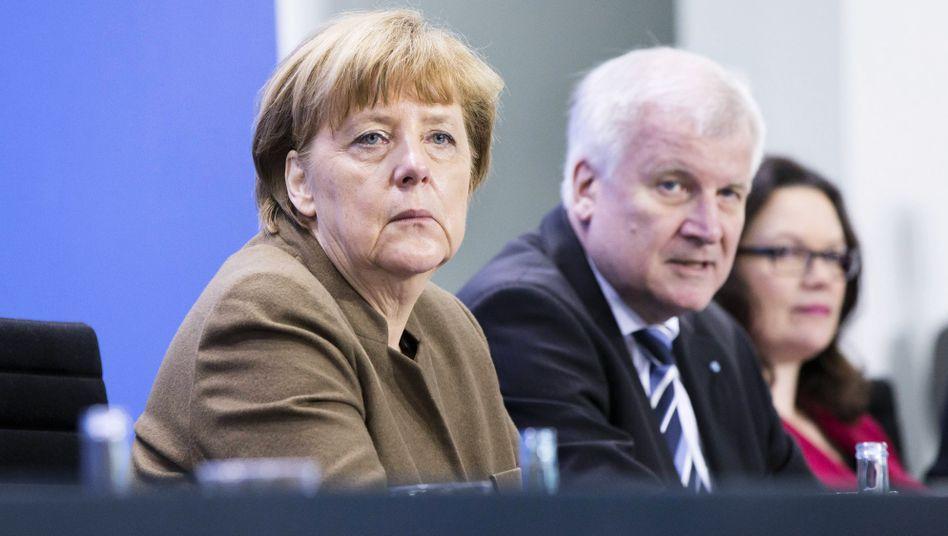 Kanzlerin Merkel, Innenminister Seehofer, SPD-Chefin Nahles