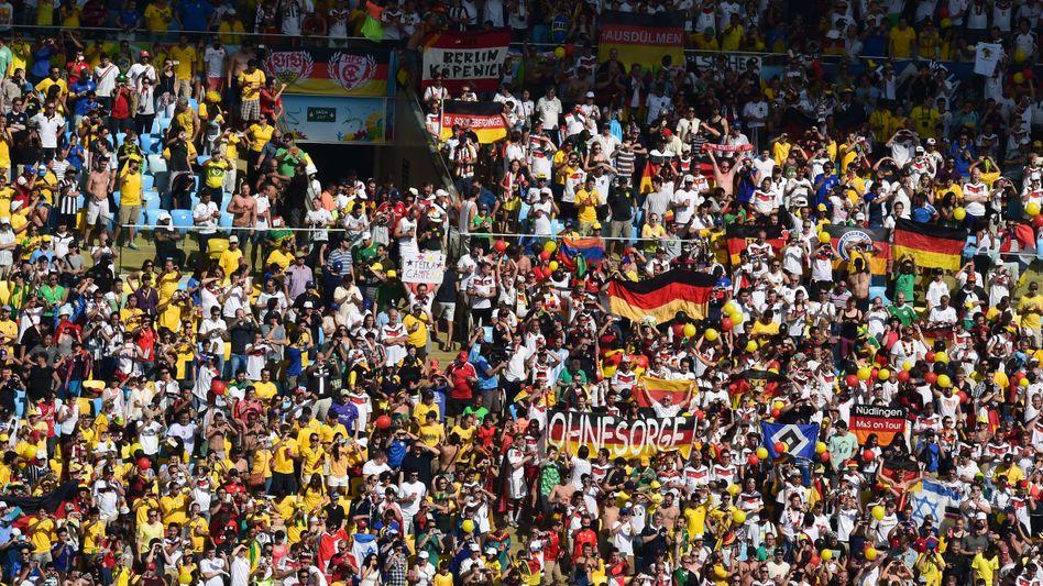 Deutsche Fans bei der WM 2014